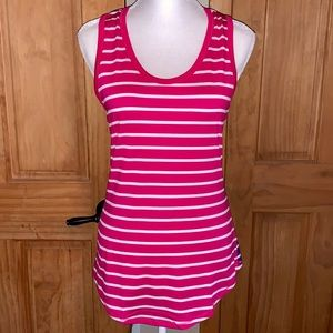 NWT L LLR Hot Pink & Purple Striped Tank Top